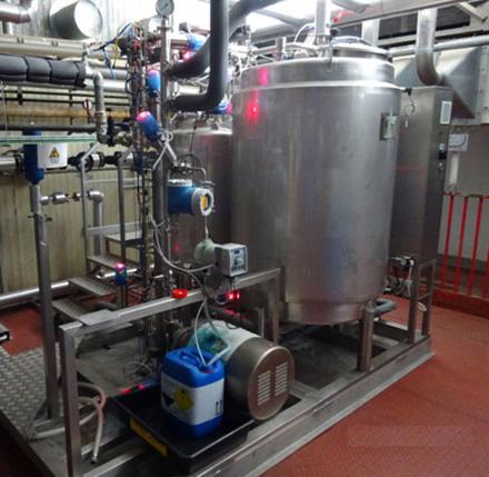 Ligne pour la préparation de liquides oraux pharmaceutiques